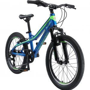 Bikestar 20inch Hardtail MTB Schijfrem Blauw Groen