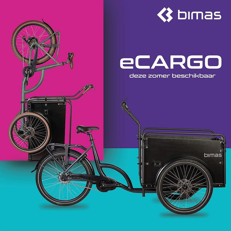 Bimas ECargo 3.0 Bakfiets Bafang 250W Achterwiel-motor