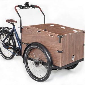Cortoba Urban Deluxe Belt elektrische bakfiets – mat blauw