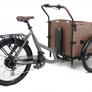 Cortoba Urban Deluxe elektrische bakfiets – Grijs/bruin