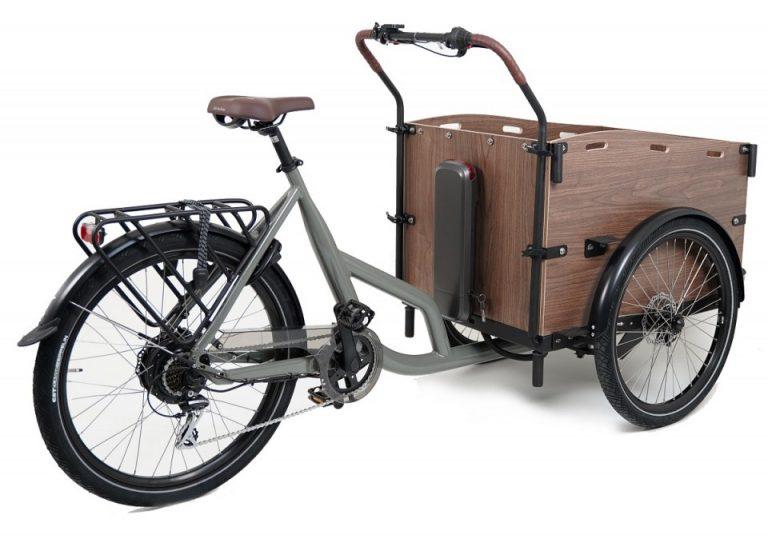 Cortoba Urban Deluxe elektrische bakfiets - Grijs bruin